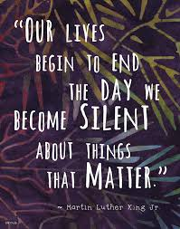 Colorful Batik Pattern Wall Art Print Martin Luther King Famous Quote The Day We Become Silent 810 Print