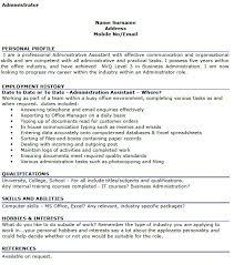 Cv Examples Administration Administrator Cv Examples Lettercv Com