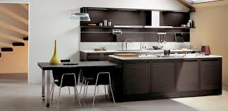4. This Idea Might Help You Well If You Want A Modern Kitchen With Some  Natural Color On The Cabinets And Its Kitchen Island Table Combination.