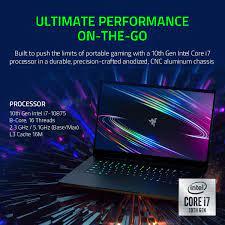 "Buy Razer Blade 15 Advanced Gaming Laptop 2020: Intel Core i7-10875H 8-Core,  NVIDIA GeForce RTX 2080 SUPER Max-Q, 15.6"" 4K OLED Touch, 16GB RAM, 1TB  SSD, CNC Aluminum, Chroma, Thunderbolt 3, Creator"