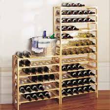 Simple wood wall wine rack