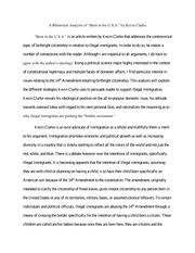 argumentative essay american citizenship is a birthright  5 pages rhetorical analysis essay ldquoborn in the u s a rdquo by kevin clarke