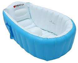 universal new baby kids toddler summer portable inflatable bathtub newborn thick bath tub blue