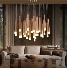 country lighting fixtures for home. American Country Style Pendant Lights Wood Lamps Led Warm Lighting Fixtures For Home Decorative House E