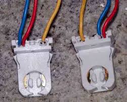 i have found the best cheap flourescent ballast fixture the first two is of the side where you have to remove the yellow jumper wire between the two sockets