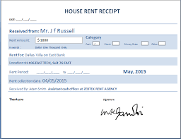 house rent receipt template  format  sample this is another property rent receipt tempalte