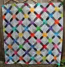 Star String quilt top finished | WOMBAT QUILTS & free quilt pattern modern star Adamdwight.com