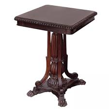 indian carved dining table. anglo indian solid rosewood tilt-top table with carved foot base dining a