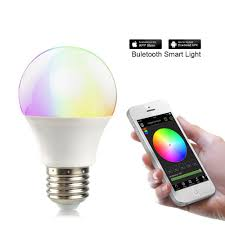 smartphone controlled lighting. Tanbaby Bluetooth LED Bulb E27 RGBW 4.5W Smart Light Timer Smartphone Controlled Dimmable Color Changeable With IPhone, IPad, Android Phone And Lighting I