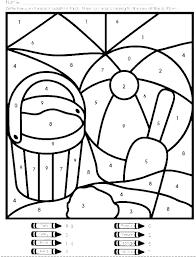 Math Coloring Worksheets Kindergarten For Nursery Color Number Free