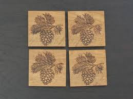 Great Kitchen Gift Pinecone Coasters Great Gift For The Cottage Cabin Or