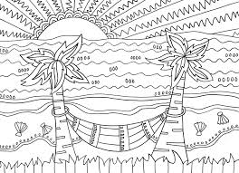 Free coloring sheets to print and download. Beach Coloring Pages Beach Scenes Activities