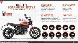 ducati scrambler sixty2 price specs review pics mileage in india
