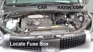 replace a fuse 2004 2009 nissan quest 2006 nissan quest s 3 5l v6 1999 Nissan Quest Fuse Box Diagram 1999 Nissan Quest Fuse Box Diagram #33 1999 Mercury Grand Marquis Fuse Box Diagram