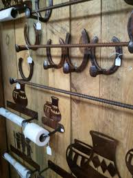 Horse Coat Rack Coat rack and towel bars from Santa Fe NM Made from railroad nails 73