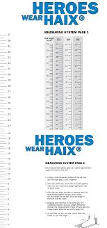 Haix Boot Size Chart Prosvsgijoes Org