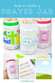 Make A Prayer Jar With Just A Few Easy Steps This Is A Great Way To Help Your Kids Learn The Im Prayer Jar Sunday School Crafts For Kids Toddler Bible