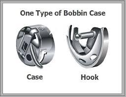 White Sewing Machine Bobbin Case