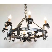 Details Zu Kronleuchter Wandlampe Laterne Schmiedeeisen Geformt 8 Lichter Durchmesser 80 Cm
