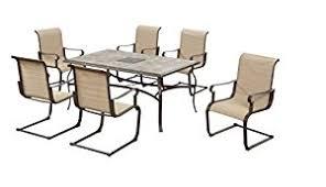 hampton bay patio dining set. hampton bay belleville outdoor decorative 7-piece patio dining set, seats 6 set s