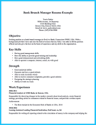 Magnificent Bank Branch Manager Resume Samples Images Entry Level