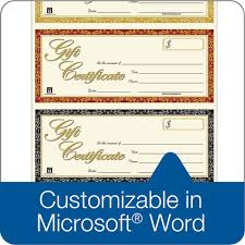 Gift Certificate Word Gift Certificate Laser 24Up 240 Per Pack 15