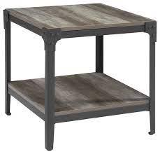 set of 2 angle iron rustic wood and