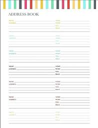 Address Book Template Free Address Book Pages Template Tellers Me