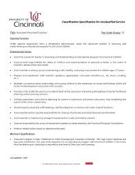 Kindergarten Teacher Resume Ideas Of Teacher Assistant Resume