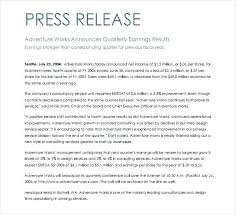 Templates For Press Releases Social Standard Press Release Format Templates Free Sample