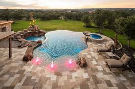 Backyard Designs With Pool And Outdoor Kitchen Stunning 48 Spectacular Swimming Pool Waterfalls