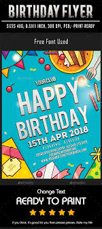 Make Free Flyers To Print Birthday Flyer Print Templates Flyers To Make This Pin