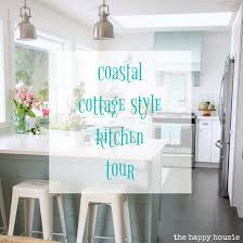 Cottage Style Kitchen Coastal Cottage Style Spring Kitchen Tour The Happy Housie