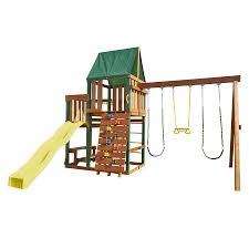 swing n slide chesapeake ready to assemble kit residential wood playset with