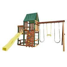 swing n slide chesapeake ready to assemble kit residential wood playset with swings