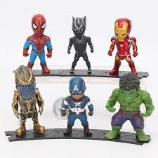<b>6pcs</b>/<b>set Marvel Avengers</b> Thanos Ironman Action Figure <b>Toy</b> ₱738