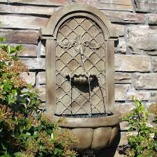 extraordinary small wall fountain use the space rationally with a design idea outdoor pump mounted garden