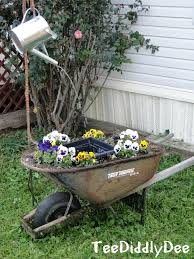 diy small water feature ideas. wheelbarrow-waterfountain diy small water feature ideas