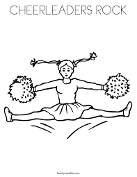 Small Picture CHEERLEADERS ROCK Coloring Page Twisty Noodle