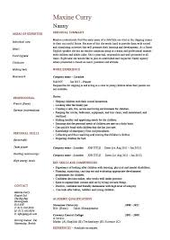 Babysitter Bio Example Babysitting Bio Resume Sample Nanny Resume Example Sample