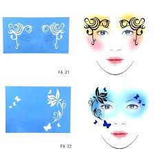 diy face paint designs face paint stencil flower erfly design painting reusable eye makeup template for diy face paint designs