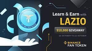Binance Learn & Earn with S.S. Lazio: $10,000 LAZIO Giveaway