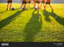 Blurred Soccer Field Image Photo Free Trial Bigstock