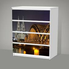 Möbelfolie Ikea Malm 4 Schubladen Dekorfolie Köln Bei Nacht Dom