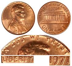 Lincoln Memorial Penny Values Chart 1971 Lincoln Memorial Penny Doubled Die Obverse Coin Value
