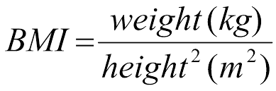 bmi can be shown through the following formula image00 png