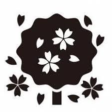 桜吹雪シルエット イラストの無料ダウンロードサイトシルエットac