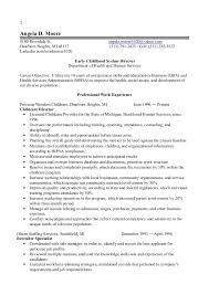 1 early childhood director resume 2014. 1 Angela D. Moore 8180 Riverdale  St. angela.moore1020@yahoo.com ...