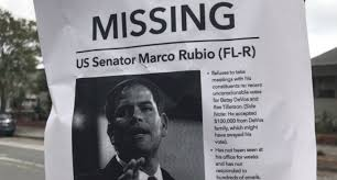 Missing Persons Posters Impressive Marco Rubio Trolled With Missing Person Fliers After Refusing To