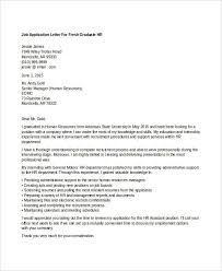 Cover Letter Sample For Hr Position Custom 48 Sample HR Job Application Letters Free Sample Example Format